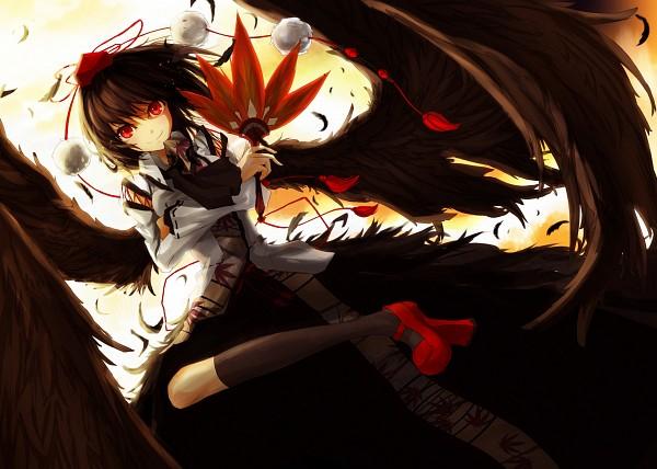 Tags: Anime, Miruto Netsuki, Shameimaru Aya, Shameimaru Aya (Crow), Pixiv, Fanart, Fanart From Pixiv, Aya Shameimaru