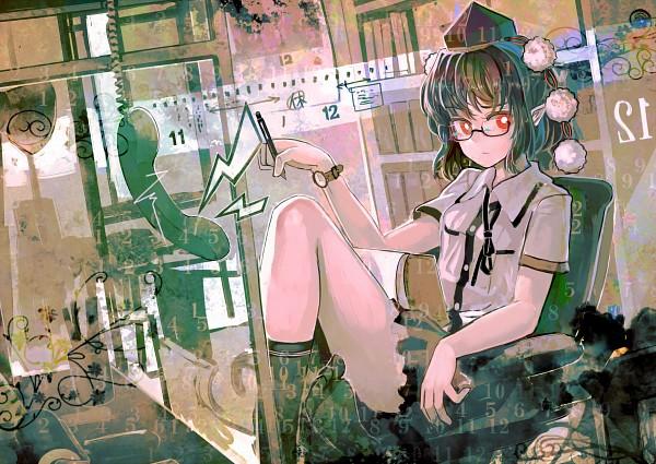 Tags: Anime, Organ Derwald, Touhou, Shameimaru Aya, Office, Fanart, Pixiv, Aya Shameimaru