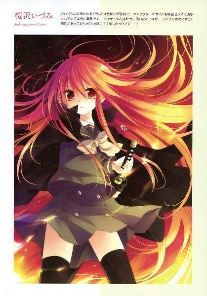 Tags: Anime, Sakurazawa Izumi, Shakugan no Shana, Shana, Mobile Wallpaper, Fanart, Scan