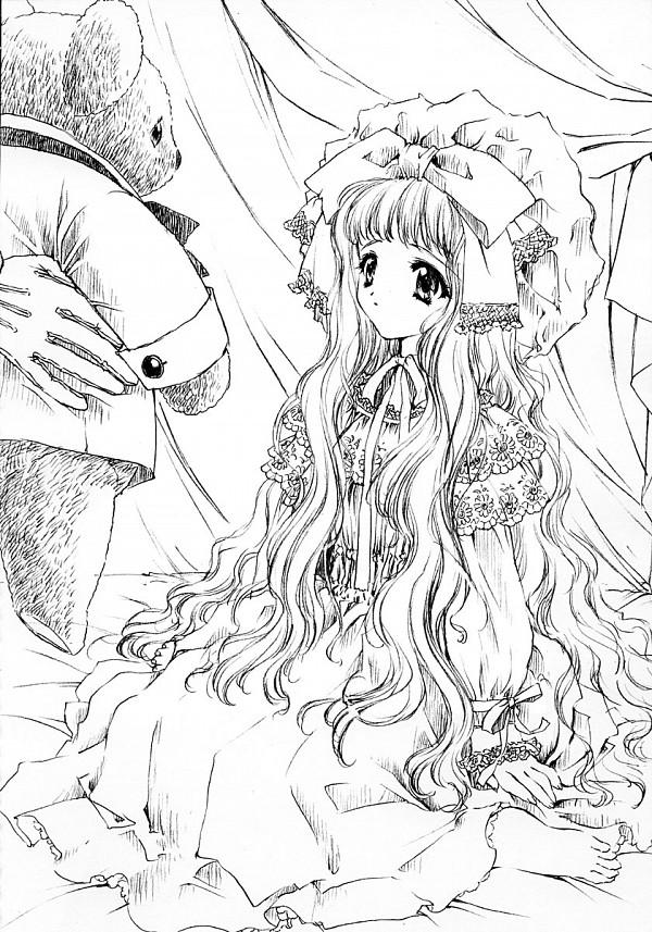 Tags: Anime, CARNELIAN, The Sanctuary Knocker, Shaura (The Sanctuary Knocker), Sketchbook, Official Art, Scan