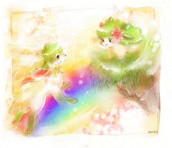Tags: Anime, Dufy 0110, Pokémon, Shaymin, Pixiv, Fanart From Pixiv, Fanart, Legendary Pokémon
