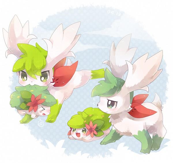 Tags: Anime, Pixiv Id 3145151, Pokémon, Shaymin, Fanart From Pixiv, Fanart, Legendary Pokémon, Pixiv, Shiny Pokémon