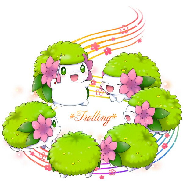 Tags: Anime, Aimi (Pixiv397331), Pokémon, Shaymin, Baton (Instrument), Music Staff, Conducting, Pixiv, Fanart From Pixiv, Legendary Pokémon, Fanart