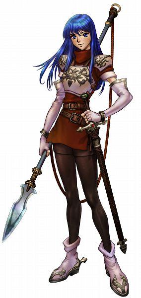 Tags: Anime, Masamune Shirow, Fire Emblem: Monshou no Nazo, Sheeda (Fire Emblem), Official Art, Cover Image, Caeda (fire Emblem)