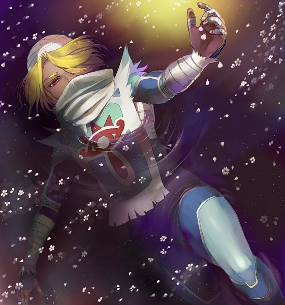 Tags: Anime, Pixiv Id 3059371, Zelda no Densetsu: Toki no Ocarina, Zelda no Densetsu, Sheik, Bandaged Fingers, Bandaged Head, Sheikah, PNG Conversion, Pixiv, Fanart From Pixiv, Fanart