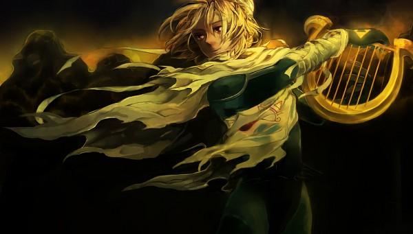 Tags: Anime, Pixiv Id 2662325, Zelda no Densetsu: Toki no Ocarina, Zelda no Densetsu, Sheik, Lyre, Triforce, Sheikah, Pixiv, Facebook Cover, Fanart From Pixiv, Fanart