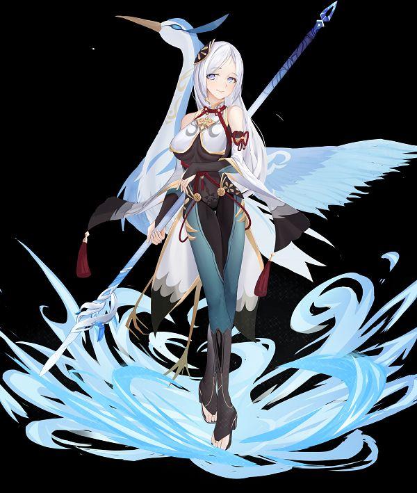 Tags: Anime, Pixiv Id 14957657, Genshin Impact, Shenli, Stork, Crane