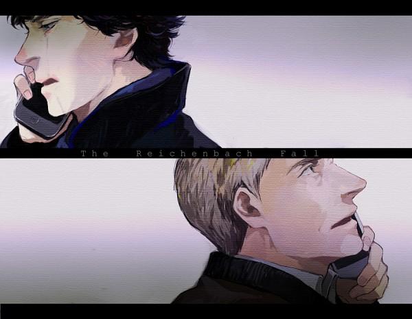 Tags: Anime, Pixiv Id 552656, Sherlock Holmes, Sherlock BBC, Sherlock Holmes (Character), Dr. John Watson, Talking On Phone, Pixiv, Fanart, Fanart From Pixiv