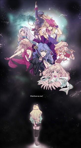 Tags: Anime, Okazuwa, Macross Frontier, Sheryl Nome, Iteza☆Gogo Kuji Don'T Be Late, Obelisk (Song), Mobile Wallpaper, Universal Bunny, Diamond Crevasse, What 'Bout My Star?