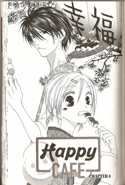 Tags: Anime, Matsuzuki Kou, Shiawase Kissa Sanchoume, Shindou Satsuki (Shiawase Kissa Sanchoume), Takamura Uru, Crease, Manga Page, Scan