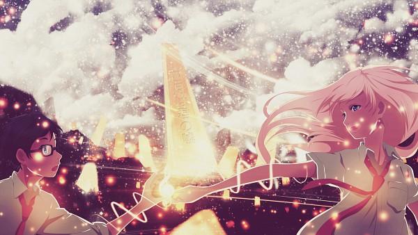 Tags: Anime, Shigatsu wa Kimi no Uso, Arima Kousei, Miyazono Kaori, Fanmade Wallpaper, Facebook Cover, Edited, Wallpaper, HD Wallpaper, Your Lie In April