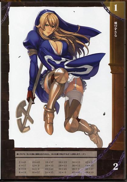 Tags: Anime, Oda Non, Queen's Blade Rebellion, Queen's Blade Rebellion Competitive Visual Book - Shigi, Shigi, Official Art