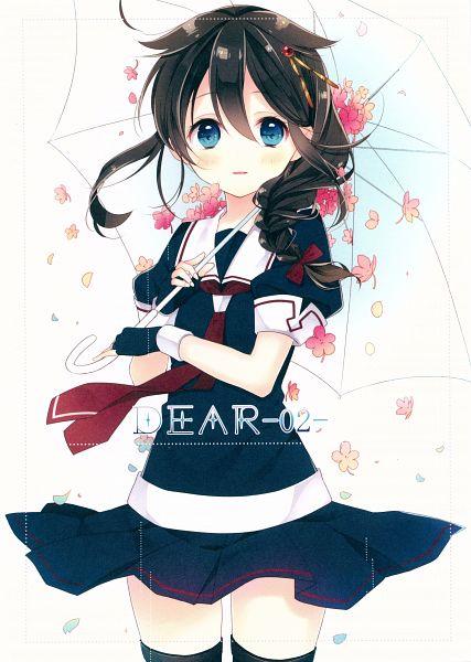 Tags: Anime, Naoto (Tulip), DEAR-02-, Kantai Collection, Shigure (Kantai Collection), Comic Market, Comic Market 88, Scan, Artbook Cover, Mobile Wallpaper