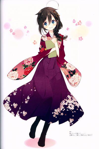 Tags: Anime, Naoto (Tulip), DEAR-02-, Kantai Collection, Shigure (Kantai Collection), Mobile Wallpaper, Comic Market, Comic Market 88, Scan