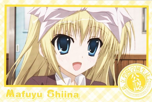 Tags: Anime, Seitokai no Ichizon, Shiina Mafuyu, Official Art, Scan