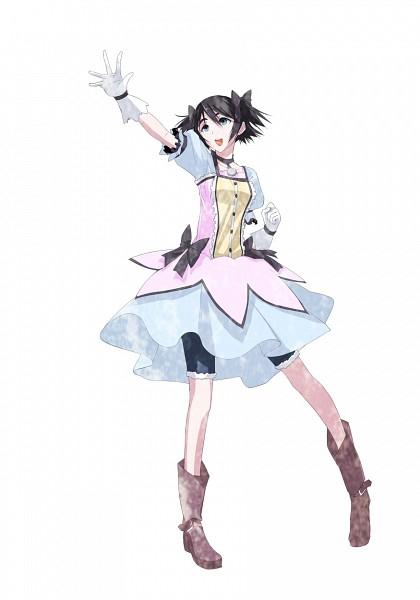 Tags: Anime, Hazuki Touya, Steins;Gate, Shiina Mayuri, Kaname Madoka (Cosplay), Pixiv, Fanart