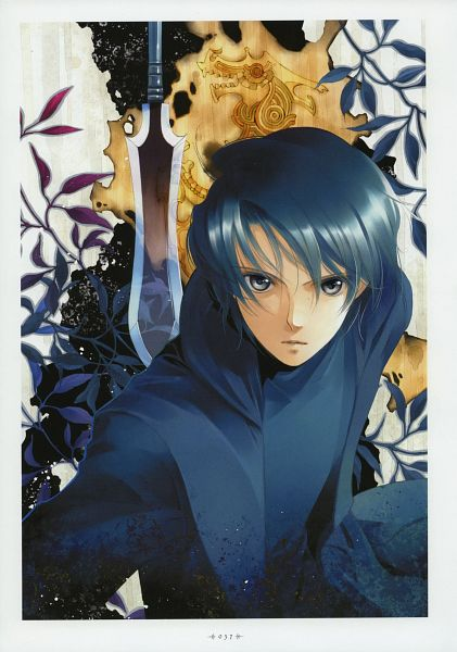 Tags: Anime, Shiina Yuu, Tsuki to Anata ni Hanataba wo, Garnet - You Shiina's Illustrations, Burnt, Scan, Official Art