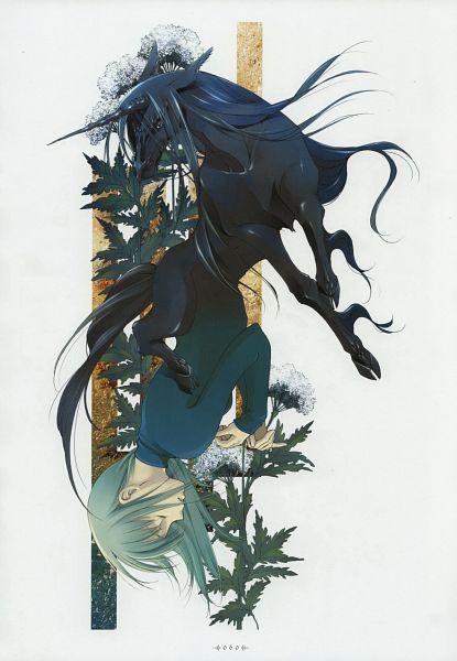 Tags: Anime, Shiina Yuu, Garnet - You Shiina's Illustrations, Scan