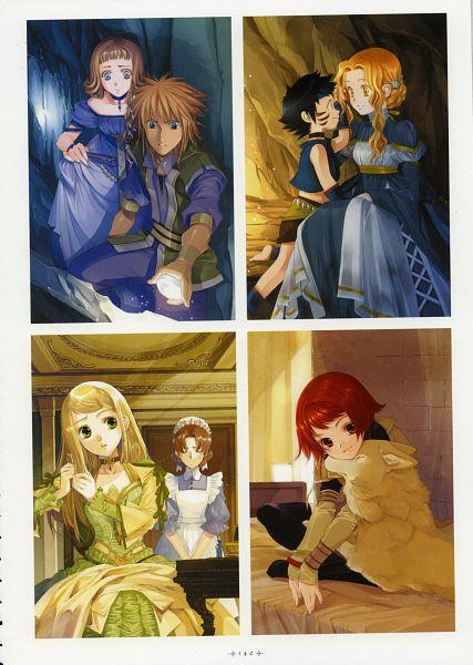 Tags: Anime, Shiina Yuu, Kouga no Ruby Wolf, Garnet - You Shiina's Illustrations, Shatina Ray Scarlett Gradius, Qena, Scan, Official Art