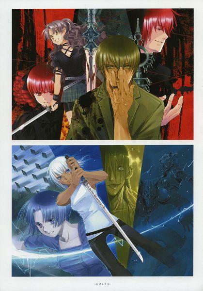 Tags: Anime, Shiina Yuu, Tsuki to Anata ni Hanataba wo, Garnet - You Shiina's Illustrations, Werewolf, Scan, Official Art