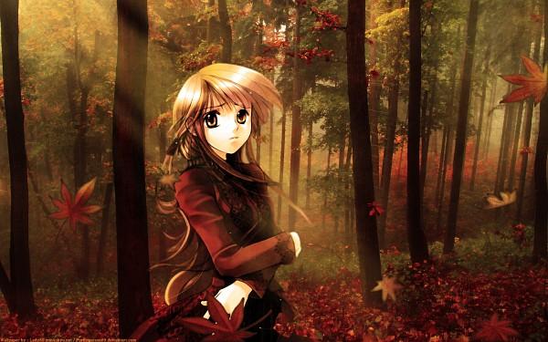 Tags: Anime, Shiina Yuu, Brown, Wallpaper