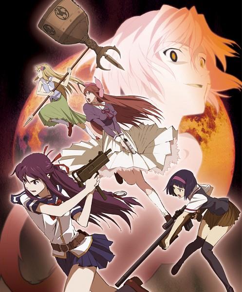 Tags: Anime, Shikabane Hime, Amase Saki, Yamagami Itsuki, Touoka Akira, Hoshimura Makina, Hokuto (Shikabane Hime)
