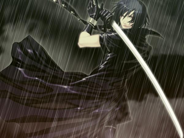 Tags: Anime, Nitro+CHiRAL, Togainu no Chi, Shiki (TNC), Leather Clothes, Leather Jacket, CG Art