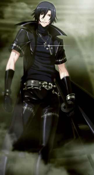 Tags: Anime, Nitro+CHiRAL, Togainu no Chi, Shiki (TNC), Leather Jacket, Leather Clothes, Mobile Wallpaper, CG Art