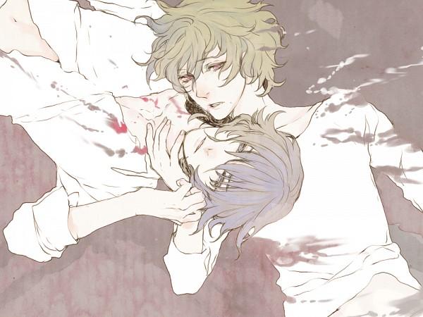 Tags: Anime, NPN, Shiki, Koide Natsuno, Mutou Toru, 1000x750 Wallpaper, Fanart, PNG Conversion, Pixiv