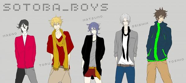 Tags: Anime, Shiki, Muroi Seishin, Koide Natsuno, Murasako Masao, Ozaki Toshio, Mutou Toru, Red Shorts, Facebook Cover