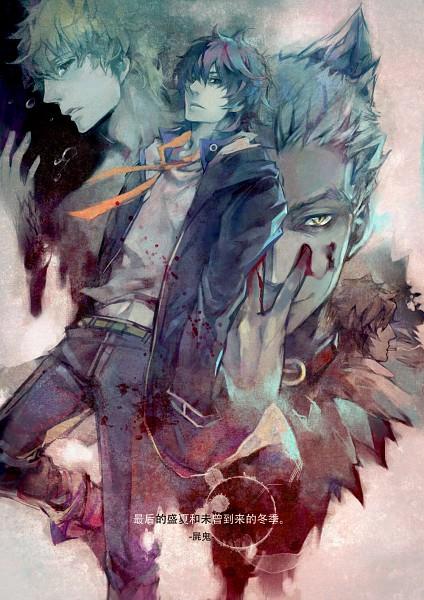 Tags: Anime, Pixiv Id 474137, Shiki, Mutou Toru, Koide Natsuno, Tatsumi (Shiki), Ozaki Toshio, Fanart, Mobile Wallpaper, Pixiv