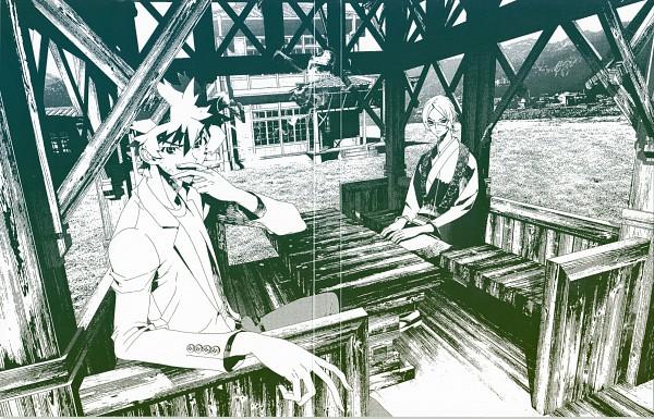Tags: Anime, Shiki, Muroi Seishin, Ozaki Toshio, Official Art
