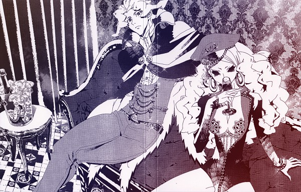 Tags: Anime, Shiki, Kirishiki Seishirou, Kirishiki Sunako, Kirishiki Chizuru, Official Art, Scan, DVD (Source)