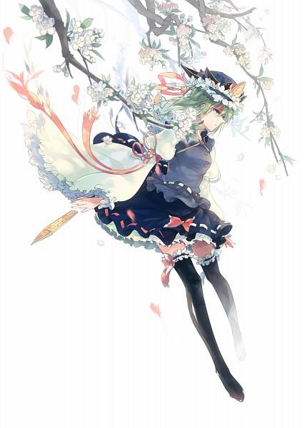 Tags: Anime, Kieta, Touhou, Shiki Eiki, Rod of Remorse, Pixiv, Mobile Wallpaper, Fanart From Pixiv, Fanart