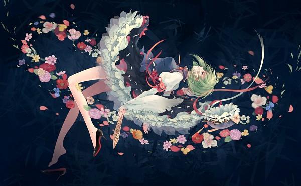 Tags: Anime, Kieta, Touhou, Shiki Eiki, Single Shoe, Footwear Off, Rod of Remorse, Rod, Motion Blur, Asymmetrical Footwear, Fanart, Pixiv, Fanart From Pixiv