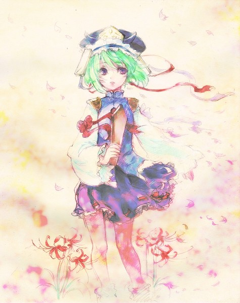 Tags: Anime, Tamachi Kuwa, Touhou, Shiki Eiki, Rod of Remorse, Watercolor, Fanart, Traditional Media, Pixiv