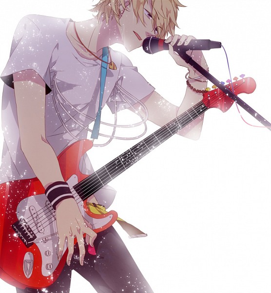 Tags: Anime, Sara666, Ao no Exorcist, Shima Kinzou, Guitar Pick, Electric Guitar, Fanart, Pixiv
