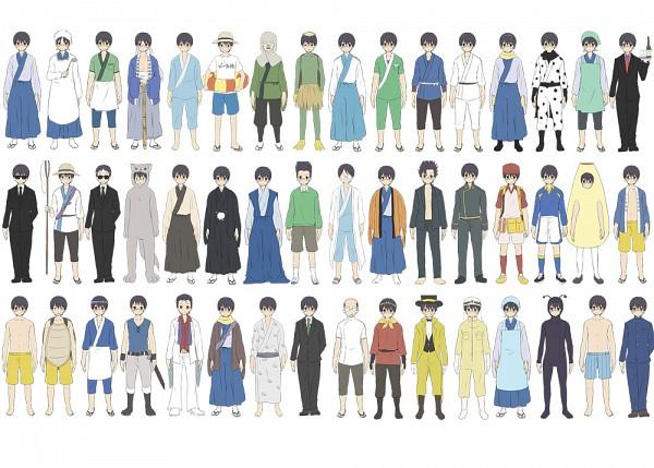Tags: Anime, Punchiki, Gintama, Holstein Ninja, Shimura Shinpachi, Pachie, Patient Outfit, Mayonnaise Costume, Dog Costume, Kappa, Boxer Shorts, Shinsengumi Rebellion Arc, Megane Arc