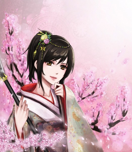 Tags: Anime, Pixiv Id 2081836, Gintama, Shimura Tae, Naginata, Pixiv