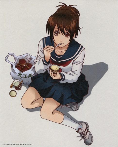 Tags: Anime, Sunrise (Studio), Gintama, Shimura Tae, Pudding, Scan, 3z, DVD (Source), Official Art