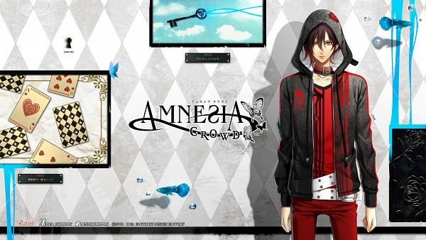 Tags: Anime, IDEA FACTORY, AMNESIA, Shin (AMNESIA), Keyhole, Red Pants, Wallpaper, HD Wallpaper, Facebook Cover, Official Art, Official Wallpaper