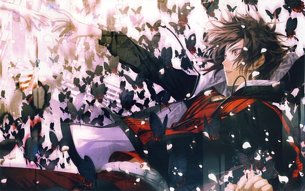 Tags: Anime, Hanamura Mai, AMNESIA CROWD Official Visual Fanbook, AMNESIA, Shin (AMNESIA), Official Art, Self Scanned, Scan