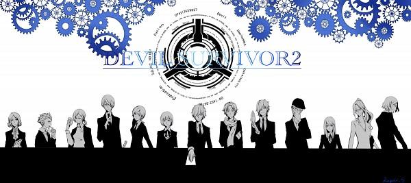 Tags: Anime, Pixiv Id 4149013, Shin Megami Tensei: Devil Survivor 2, Shijima Daichi, Wakui Keita, Kuriki Ronaldo, Hotsuin Yamato, Torii Jungo, Akie Yuzuru, Ban Airi, Kanno Fumi, Kujou Hinako, Alcor