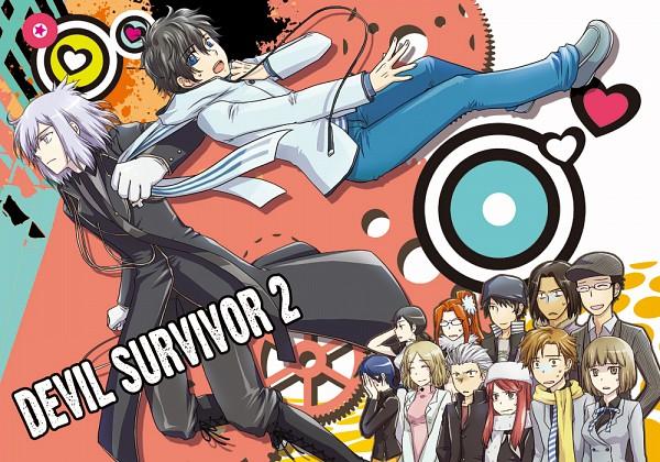 Tags: Anime, Pixiv Id 889002, Shin Megami Tensei: Devil Survivor 2, Ban Airi, Torii Jungo, Akie Yuzuru, Kuze Hibiki, Kanno Fumi, Kujou Hinako, Sako Makoto, Shijima Daichi, Nitta Io, Yanagiya Otome