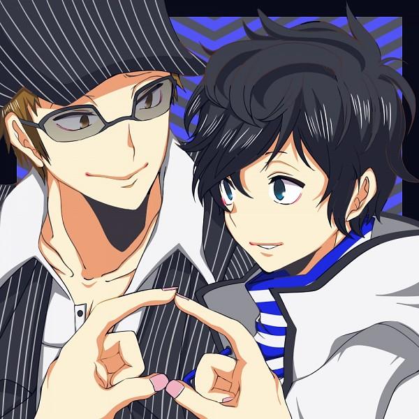 Tags: Anime, Pixiv Id 2054543, Shin Megami Tensei: Devil Survivor 2, Kuze Hibiki, Akie Yuzuru, Fanart From Pixiv, Pixiv, Fanart