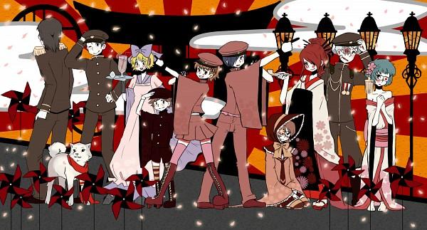 Tags: Anime, Pixiv Id 2145893, Project DIVA F, Persona 3 Portable, VOCALOID, Shin Megami Tensei: PERSONA 3, Kirijou Mitsuru, Yuuki Makoto (PERSONA 3), Takeba Yukari, Amada Ken, Iori Junpei, Sanada Akihiko, Aragaki Shinjirou