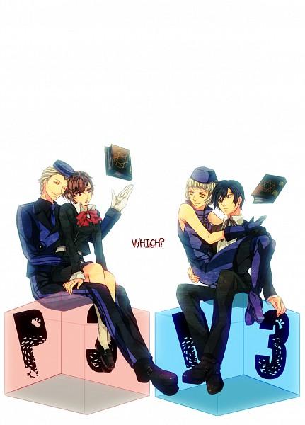 Tags: Anime, Nishi Juuji, Persona 3 Portable, Shin Megami Tensei: PERSONA 3, Yuuki Makoto (PERSONA 3), Theodore, Elizabeth (PERSONA 3), Female Protagonist (PERSONA 3), Mobile Wallpaper, Pixiv