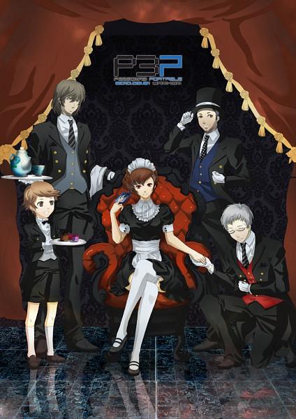 Tags: Anime, Persona 3 Portable, Shin Megami Tensei: PERSONA 3, Female Protagonist (PERSONA 3), Aragaki Shinjirou, Amada Ken, Iori Junpei, Sanada Akihiko, Reverse Harem, Mobile Wallpaper, Artist Request