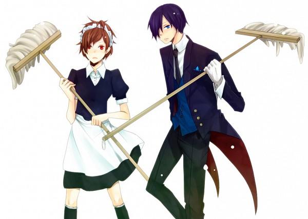 Tags: Anime, Persona 3 Portable, Shin Megami Tensei: PERSONA 3, Female Protagonist (PERSONA 3), Yuuki Makoto (PERSONA 3), Mop, Artist Request