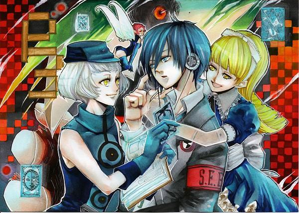 Tags: Anime, Shin Megami Tensei: PERSONA 3, Elizabeth (PERSONA 3), Alice (Megami Tensei), Yuuki Makoto (PERSONA 3), Pixie (Shin Megami Tensei), Velvet Room, Artist Request